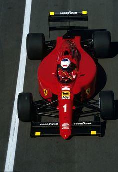 alain prost on enrique scalabroni& ferrari 1990 Ferrari F1, Ferrari Scuderia, Ferrari Racing, F1 Racing, Alain Prost, Grand Prix, Mick Schumacher, Gp F1, Formula 1 Car