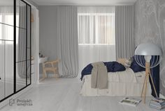 Nowoczesna sypialnia w bloku, 11 m² - Divider, Bed, Room, Furniture, Home Decor, Bedroom, Decoration Home, Stream Bed, Room Decor