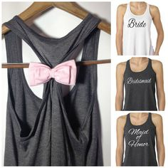 Prepare for your wedding day in style with this flowy custom bridal party tank top from Bridal Bliss Couture. Custom handcrafted in meticulous