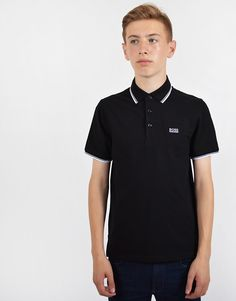 582c3dcd3 Terraces Menswear · Terraces Junior · BOSS Kids Tipped Polo Shirt Black