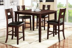 Counter Ht Dining Table W/ 4 Chair