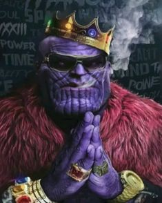 [LAB3D] My latest Facebook 3D of Notorious Titan - Thanos Biggie Smalls Rick Ross Inspired Thug Life 3D Photo. In this version I added the smoke effect which makes the 3D Photo pop more. #boomlab3d Thanos Marvel, Marvel Comics, Marvel Heroes, Rick Ross, Joker Wallpapers, Animes Wallpapers, 3d Wallpaper Avengers, Hulk Tattoo, Batman Arkham City