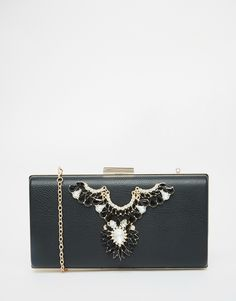 Chi Chi Box Clutch Bag with Embellishment