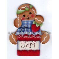 Ginger Loves Strawberry Jam Gingerbread Painting E-Pattern Gingerbread Ornaments, Gingerbread Decorations, Christmas Gingerbread, Christmas Time, Christmas Decorations, Christmas Ornaments, Wood Crafts, Diy And Crafts, Paper Crafts