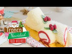 Tronco de Navidad Red Velvet   Roll Cake   Quiero Cupcakes! - YouTube