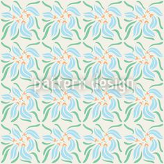 Dekora by Yenty Jap available for download as a vector file on patterndesigns.com Vector Pattern, Pattern Design, Vector File, Surface Design, Exotic, Objects, Floral, Blue, Inspiration