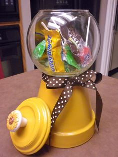 Faux Gumball Machine  sunflower yellow by CountryGooseBoutique, $20.00