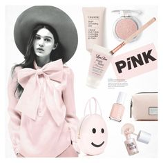 """""""Untitled #73"""" by ladynena ❤ liked on Polyvore featuring beauty, Forever 21, Essie, Marc Jacobs, Benefit, Love Boo, Pink, Beauty and ladynena"""