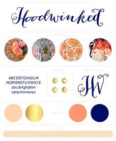 Hoodwinked brand board || Love Grows Design