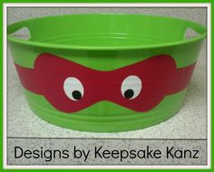 TMNT Party Bucket ...all colors available  https://www.facebook.com/lifesaverpartees