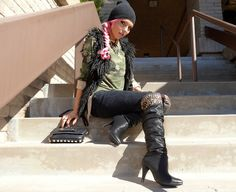 Army Inspired Outfit of the Day  The Haute Blonde- Fashion & Beauty Blog: Military Trend