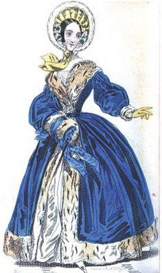 """Early Victorian Era Fashion Plate - January 1839 Ladies' Pocket…"