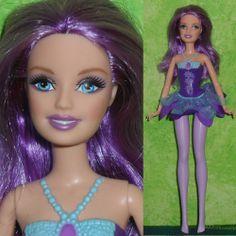 "Mattel Barbie 11.5"" PURPLE HAIR FAIRY Pixie Doll Mariposa w/ clothes for OOAK"