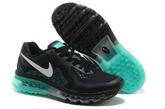 Cheap Nike Air Max 2014 Black Turquoise Men's Running Shoes