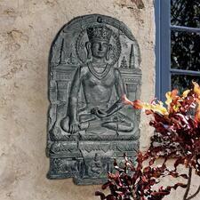 Earth Witness Buddha Sculptural Wall Frieze
