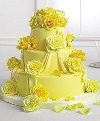 Love this cake instead of light yellow flowers add gray flowers