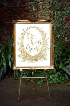 Beauty And The Beast Wedding Decor Be Our Guest by oandhdesign