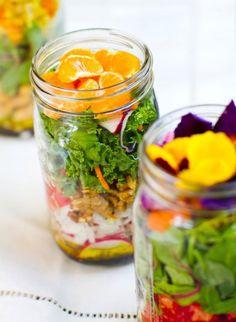 natural healthy salad in a jar...