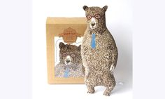 Sian Zeng — Bear Kit with Glasses and Tie (Brown)