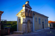 Church in Gyri village, is 550 meters above sea level. In its inhabitants counted 58 people, one more than in Zakynthos island, Ionian sea, Greece Byzantine, Greece, Sea Level, Island, Mansions, Monuments, House Styles, Landscapes, People