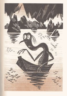 Gollum - Illustrations from the Soviet Version of The Hobbit