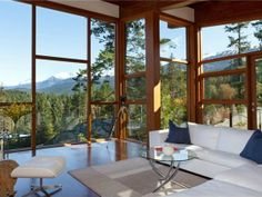 Floor-to-ceiling windows make for amazing views and tons of natural light