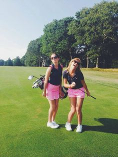 This is seriously my sis and I on the course...We may not play like pros but at least we look like pros!
