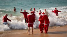 Santa Swim #2 - Pinned by Mak Khalaf The Christmas Day Charity Swim at Armação de Pêra Portugal this morning raised money for local children's charities. Happy holidays everyone! Travel AlgarveChristmasNatalNataleNavidadNoelPortugalSEaSantaSwim by adamwestgla
