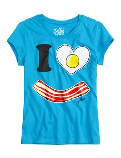 I Love Bacon Graphic Tee | Foods | Graphic Tees | Shop Justice