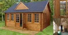 Little Log Cabin Kit-- writing cottage? Tyni House, Tiny House Living, Log Cabin Kits, Log Cabin Homes, Tiny Cabins, Cabins And Cottages, Little Log Cabin, Tiny House Plans, Cabins In The Woods