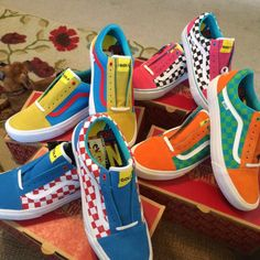 VANS OLD SKOOL PRO GOLF WANG YELLOW BLUE RED VN000ZD4J7U