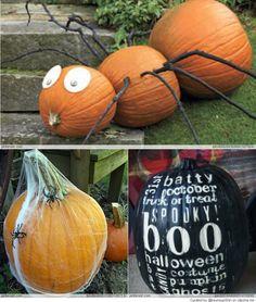 No Carve Pumpkin Decorating Ideas | No-Carve Pumpkin Decorating