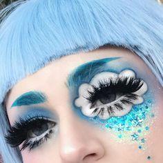 Cute Makeup Looks, Makeup Eye Looks, Creative Makeup Looks, Eye Makeup Art, Pretty Makeup, Eyeshadow Makeup, Beauty Makeup, Hair Makeup, Edgy Makeup