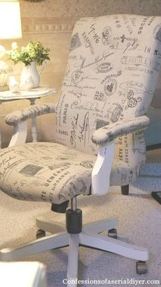 How to Reupholster a Chair by Confessions of a Serial DIYer www.blissfullyeverafter.net
