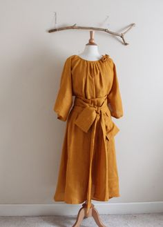 autumn gold many moods obi dress ( roses added with fee) by annyschooecoclothing