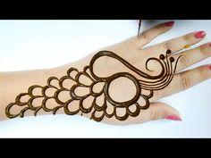 Mehndi Designs Front Hand, Peacock Mehndi Designs, Mehndi Designs For Kids, Simple Arabic Mehndi Designs, Stylish Mehndi Designs, Henna Art Designs, Mehndi Design Photos, Mehndi Simple, Mehndi Designs For Fingers