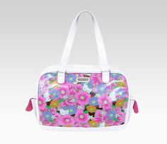 Hello Kitty Vinyl Overnight Bag: Tropical