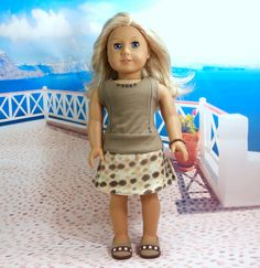 Hey, I found this really awesome Etsy listing at http://www.etsy.com/listing/162380828/ixia-american-girl-dress-and-shoes-taupe