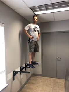 Customer Eric H installed our Large Shelf Bracket and proves how much weight our brackets can hold! Home Office Layouts, Home Office Setup, Home Office Space, Home Office Design, Office Ideas, Shelves In Bedroom, Desk Shelves, Wall Shelves Design, Desks For Small Spaces