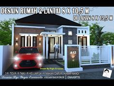 DESAIN RUMAH 8X10,5 M DI LAHAN 8X15,5 DENGAN 3 KAMAR TIDUR - YouTube Minimalist House Design, Minimalist Home, Porch Entry, Construction Cost, Next At Home, Architect Design, Little Houses, Home Projects, House Plans
