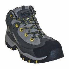 McRae MR41308 Women's Gray Mid-Height Steel Toe Hiking Shoes - New With Box