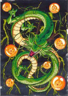 Shenron and the seven magic dragon balls. Would be the best tattoo ever! - Shenron and the seven magic dragon balls. Would be the best tattoo ever! Dragon Ball Gt, Shen Long Tattoo, Sheng Long, Z Tattoo, Best Tattoo Ever, Anime Tattoos, Naruto Tattoo, Beste Tattoo, Pretty Cure
