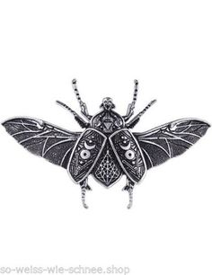 Restyle-Haarspange-Mond-Kaefer-Occult-Moon-Beetle-Gothic-Hairclip-Steampunk-Clip