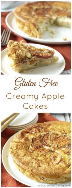 Fool Proof Gluten Free Creamy Apple Cakes http://www.fearlessdining.com