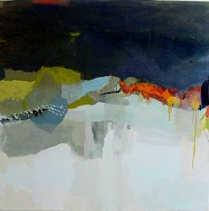 These abstract oil on canvas pieces are by artist Madeline Denaro . To see more of her work go to ArtNet .