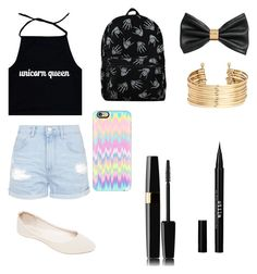 """""""Untitled #43"""" by zoebird1234 ❤ liked on Polyvore featuring Mode, Topshop, Wet Seal, Casetify, H&M und Stila"""