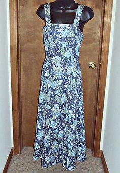 Laura Ashley Womens Sz 6 Maxi Dress Floral English Rose Vintage Romantic Dress