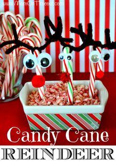 DIY Halloween : DIY Candy Cane Reindeer DIY Halloween Decor