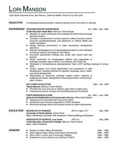 Special Education Resume Objective Resume Objective Statements  Teacher In Me  Pinterest  Resume .