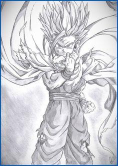 Resultado de imagen para dibujos de dragon ball super a lapiz dificiles